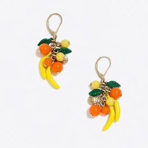 J.crew Fruit bunch drop earrings, NWT